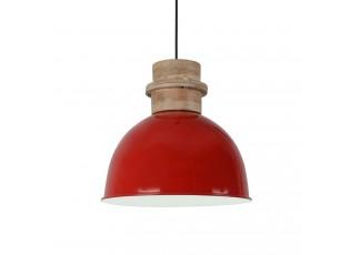 ČČervené závěsné kovové světlo Legno - Ø 30*30 cm