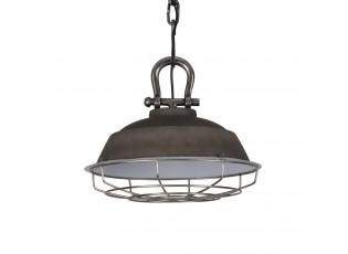 Cementové závěsné kovové světlo Milan - Ø 36*30 cm