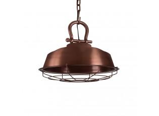 Měděné závěsné kovové světlo Milan - Ø 36*30 cm