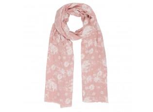 Růžový šátek Rosa s růžemi - 70*180 cm