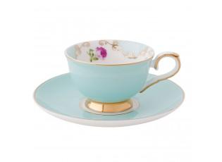 Porcelánový šálek s podšálkem Rose espresso - Ø 12*5 cm / 0,05L