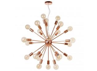 Závěsné měděné světlo Globe 24 žárovek - Ø 72cm