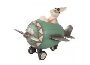 Dekorace králíček v letadle - 24*17*18 cm