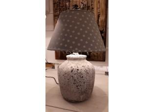 Šedá základna k lampě s patinou  - 24*24*37 cm