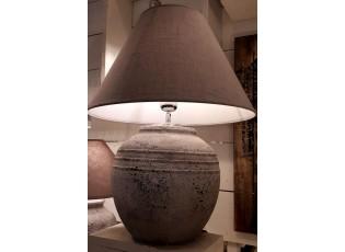 Šedá základna k lampě s patinou  - 29*29*40 cm