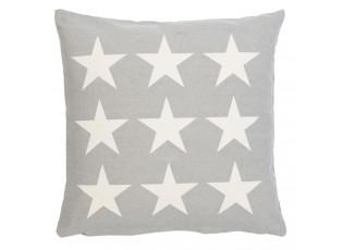 Šedý povlak na polštář s hvězdami Stars - 50*50cm