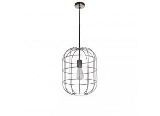 Stříbrné závěsné kovové světlo Olaf - Ø 30*41 cm