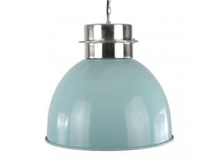 Modré závěsné kovové světlo Prato - Ø 30*30 cm