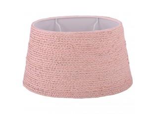Růžové oválné stínidlo na stolní lampu - 29*20*17 cm/ E27