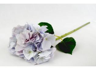 Dekorace světle fialová hortenzie velkokvětá  - 80 cm