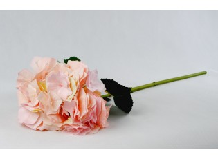 Dekorace růžová hortenzie velkokvětá  - 80 cm