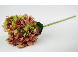 Dekorace růžovo-zelená hortenzie - 80 cm