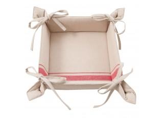 Oboustranný textilní košíček na pečivo Country Essentials red - 35*35*8 cm