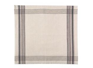 Textilní ubrousky Country Essentials black - 40*40 cm- sada 6ks