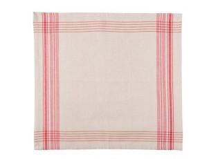 Textilní ubrousky Country Essentials red - 40*40 cm- sada 6ks