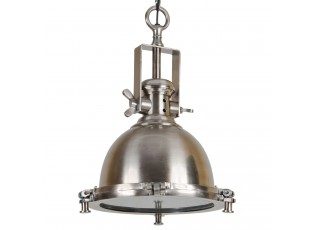 Kovové závěsné kovové světlo Emporio antik stříbrná - Ø 32*50 cm