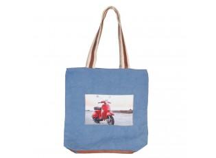 Modrá kabelka/taška - 35*40 cm