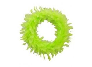Zelený peříčkový věneček  - Ø 15cm