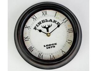 Nástěnné kovové hodiny - Ø 25*6cm
