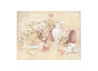 Obraz zátiší s květinami - 45*35*3 cm