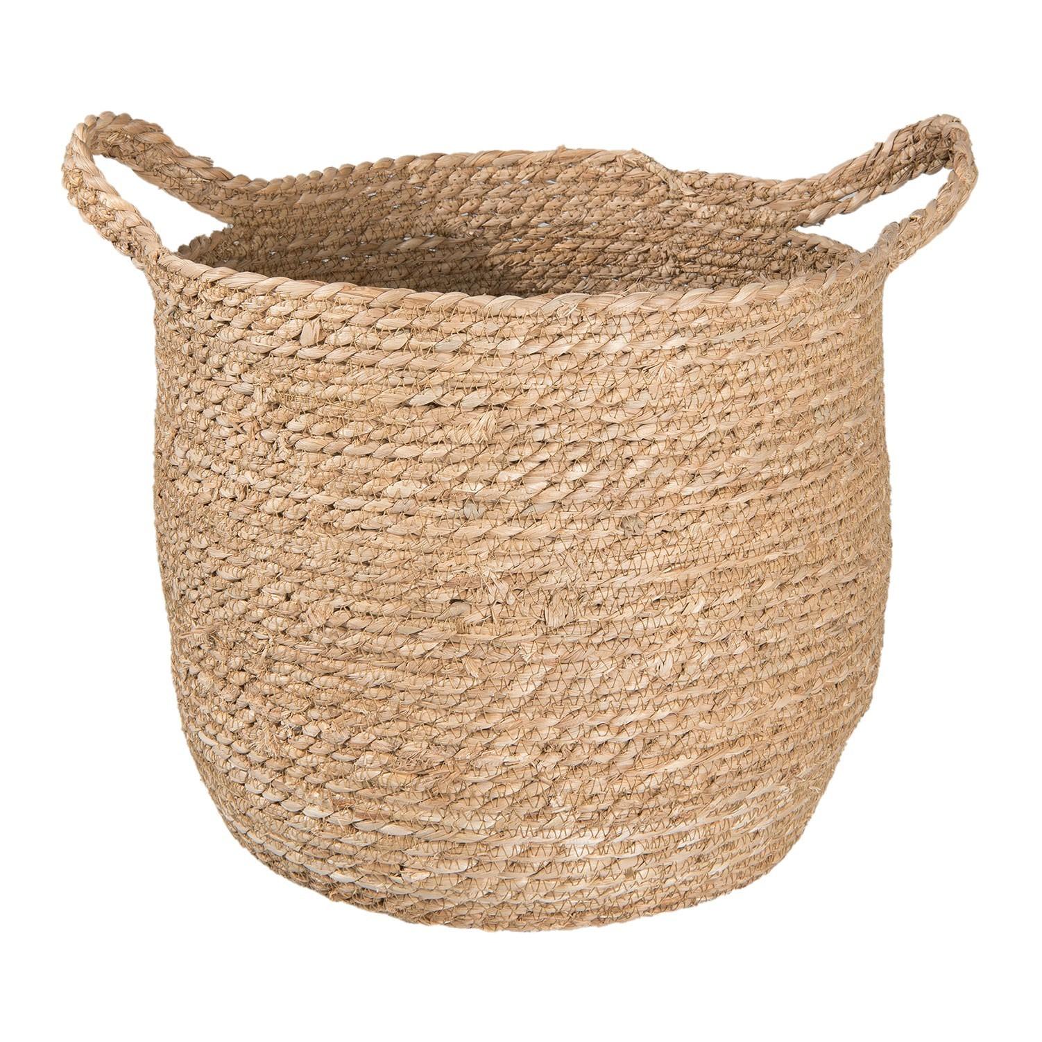 Koš z mořské trávy - Ø 34*28 cm