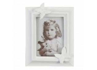 Bílý fotorámeček s motýlky  - 10*13 cm / 6*9 cm