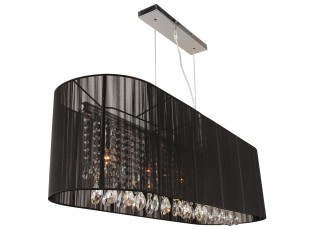 Černý oválný lustr Venezia - 110*30 cm / E14