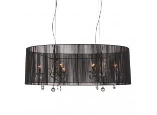 Černý oválný lustr Merel - 100*46*34 cm / 6*E14
