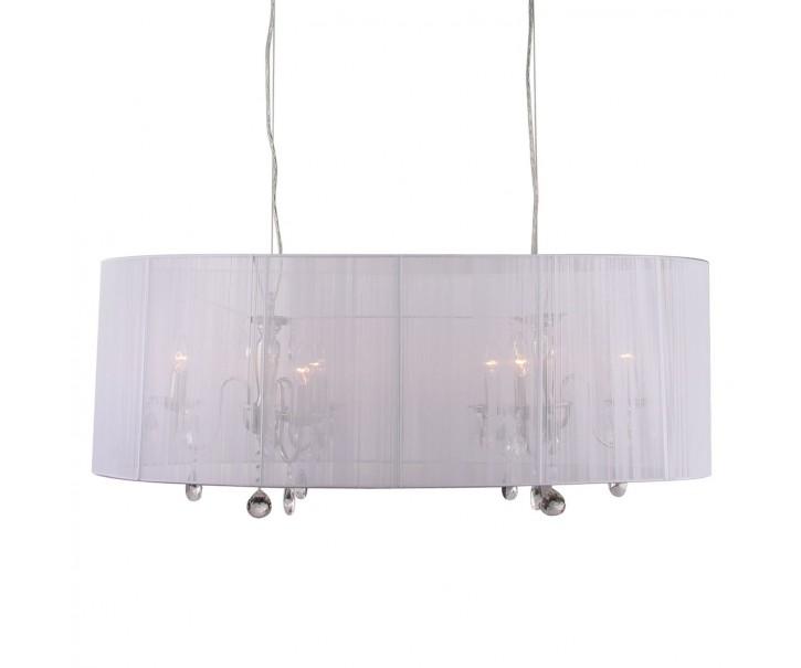 Bílý oválný lustr Merel White - 100*46*34 cm / 6*E14