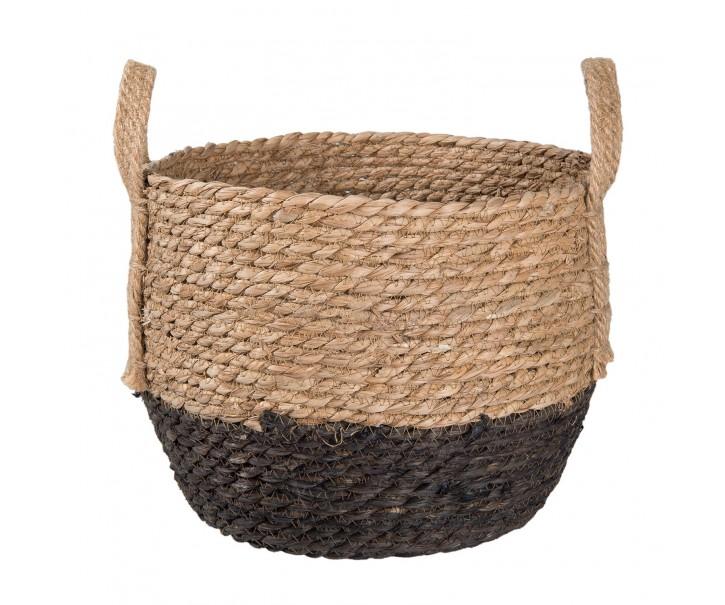 Koš z mořské trávy - Ø 29*23cm