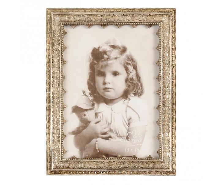 Zlatý fotorámeček s patinou - 17*22cm/ 13 * 18 cm