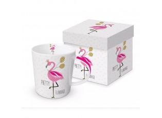 Hrnek v krabičce Pretty Flamingo - 0,3L