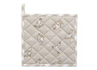 Béžová chňapka -podložka Lucky Chicken - 20*20 cm