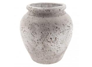 Dekorační terakotová váza antik - Ø 26*28 cm
