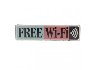 Plechová cedule Free Wifi - 40*10 cm