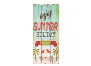 Nástěnná dřevěná cedule Summer Holiday - 15*1*34cm