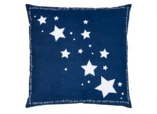 Modrý povlak na polštář Shining for you I - 50*50 cm