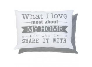 Šedý povlak na polštář What I love - 35*50cm