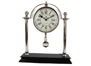 Stolní kovové hodiny s kyvadlem - 38cm