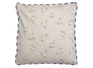 Béžovomodrý povlak na polštář Lucky Chicken - 40*40 cm