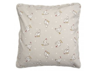Béžový povlak na polštář Lucky Chicken - 40*40 cm