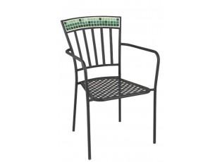 Kovová zahradní židle Square Mosaic - Ø53*57*85 cm