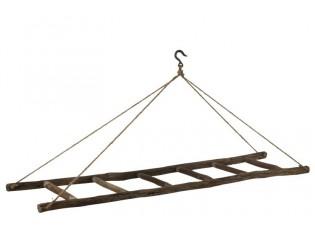 Dřevěný závěsný žebřík - 180*40*70 cm