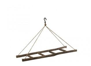 Dřevěný závěsný žebřík - 110*40*72 cm