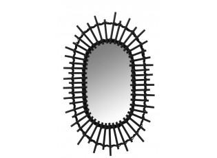 Černé oválné zrcadlo Sun - 30*2*50 cm