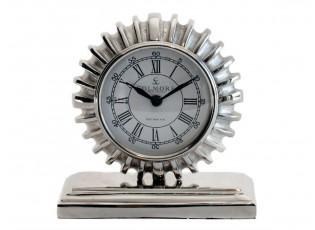 Stolní kovové stříbrné hodiny - 16*7*18cm