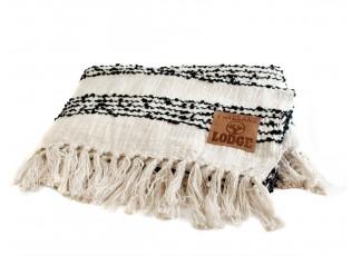 Černo-bílý pléd Stripes- 125*150cm