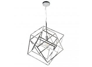 Stříbrné závěsné kovové světlo Diamond Chrome- 40*40*47cm