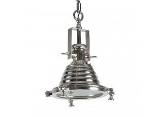 Stříbrné závěsné kovové světlo Enrica Chrome- 26*43cm