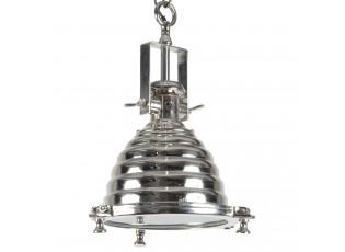 Stříbrné závěsné kovové světlo Enrica Chrome- 31*48cm